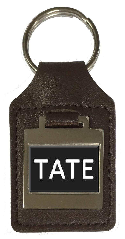 Leather Keyring Birthday Name Optional Engraving Tate