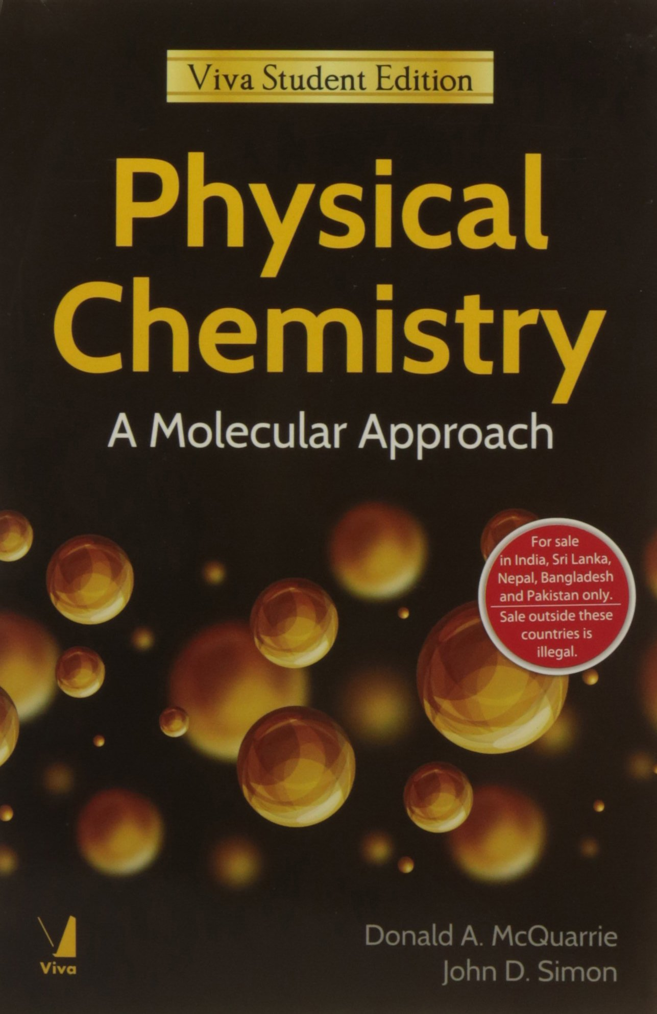 Physical Chemistry a Molecular Approach: Donald A. McQuarrie:  9788130919195: Amazon.com: Books