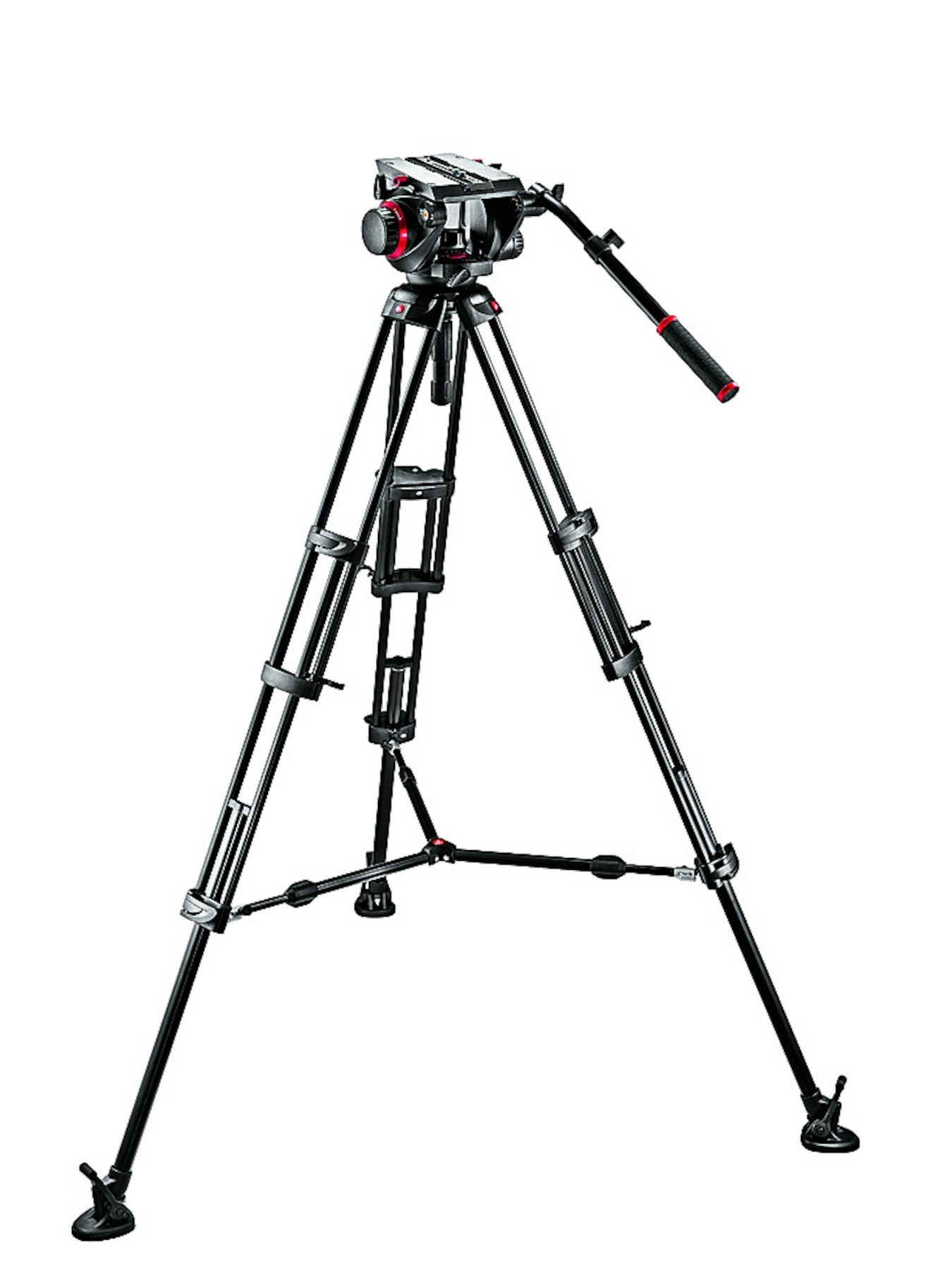 Manfrotto 509HD Video Head with 545B Tripod Legs and Mid-Level Spreader