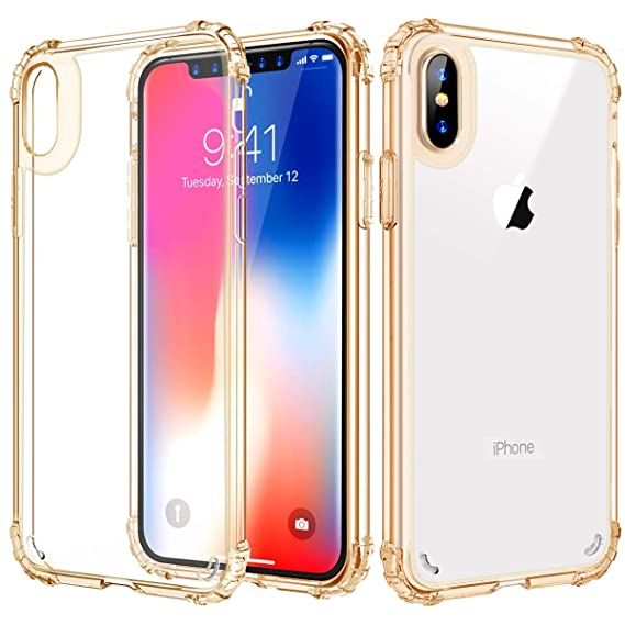 reputable site 65893 3011c iPhone Xs Max Case, Soft TPU Case for iPhone Xs Max 6.5 Crytal Clear Hard  Back, Slim Flexible Cover for for iPhone Xs Max 6.5 inch - Gold