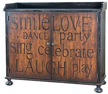 Amazon.com: Pulaski muebles gabinete de vino de día festivo ...