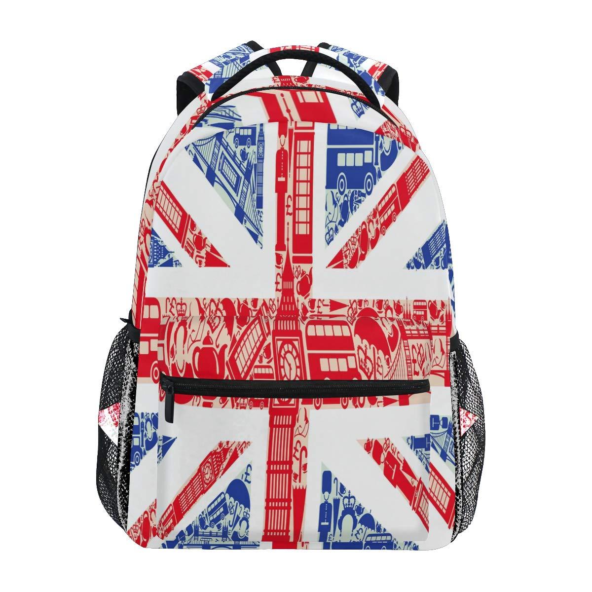 Amazon.com: UK Flag Big Ben London School Backpack ...