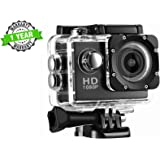 Kingsford 1080P Waterproof Sport Action Camera 2 inch LCD Screen 12 MP Full HD