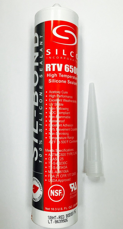 High Temp Food Grade RTV Silicone Sealant Adhesive 10 3oz CASE OF 24