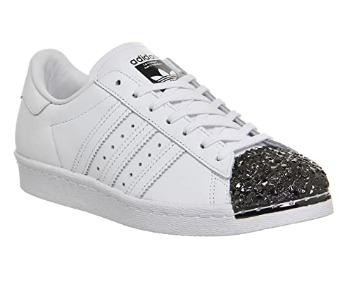 91330ad6daa8b1 adidas Womens Originals Superstar 80S Metal Toe Trainers in White ...