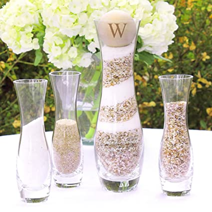 Sand Ceremony Wedding.Rustic Wedding Unity Sand Ceremony Candle Alternative 4 Piece Set