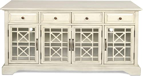New Classic Furniture Gilbert 4 Drawer 4 Door Accent, White