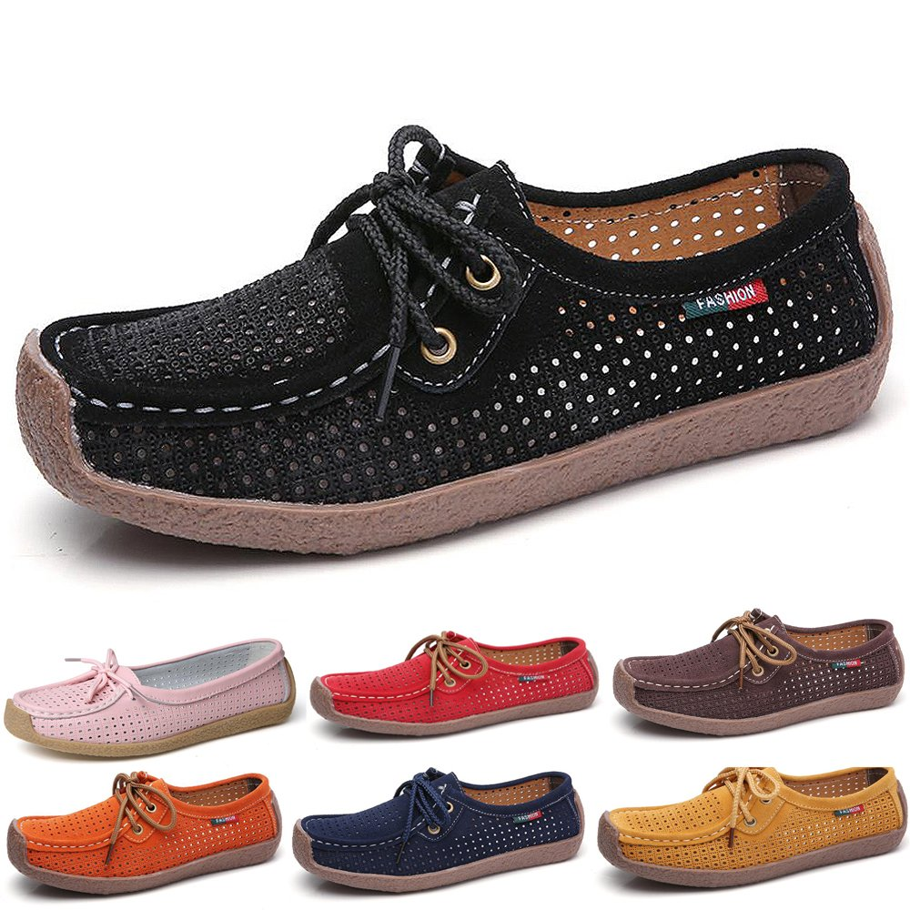 Mocassins Femmes Confortable Cuir Loafers on Casual Slip on Loafers B00FMV4I8W Chaussures Flats de Conduite Noir 107893f - reprogrammed.space