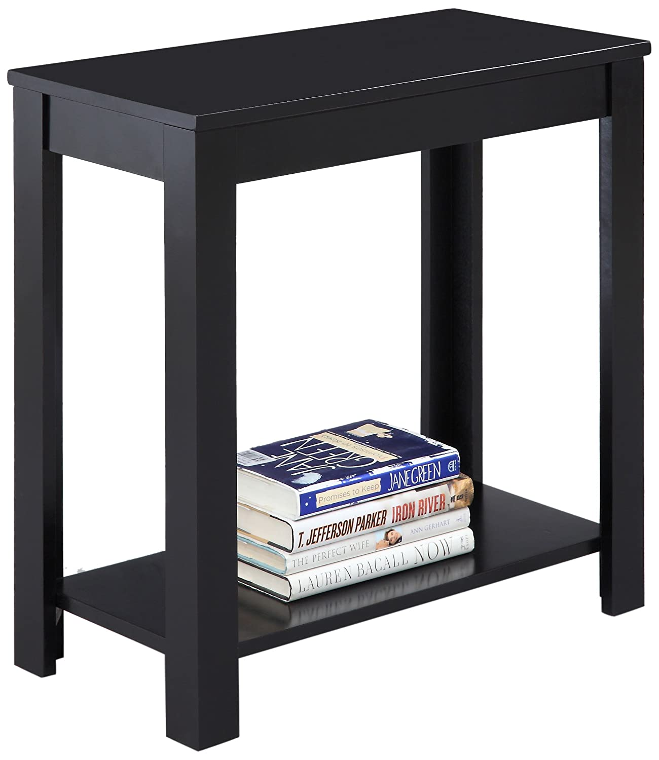 Amazoncom Crown Mark Pierce Side Table Black Kitchen Dining