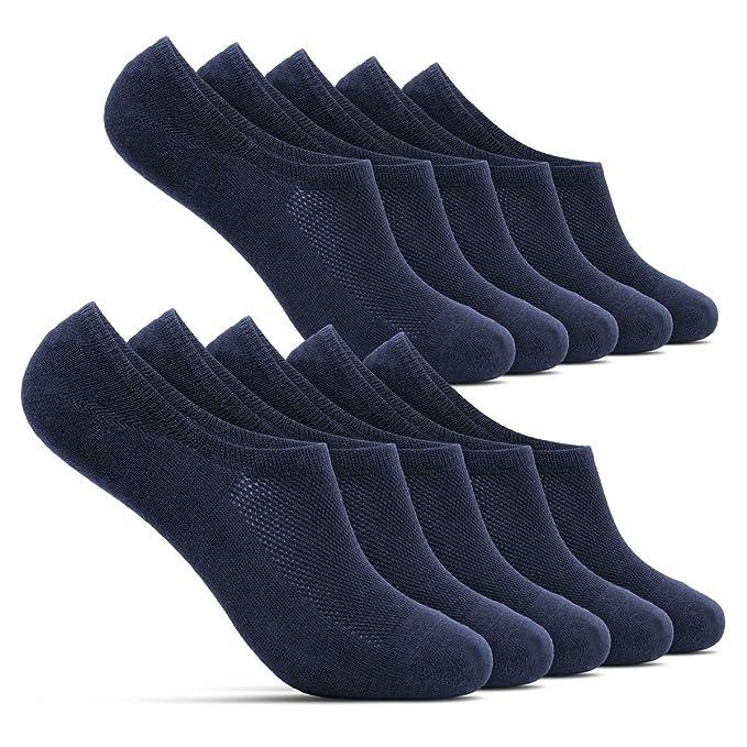 ROYALZ Calcetines Zapatillas Cortas 5 Pares para Hombre y Mujer Transpirables - Calcetines Invisibles ZkC5c2nnMr