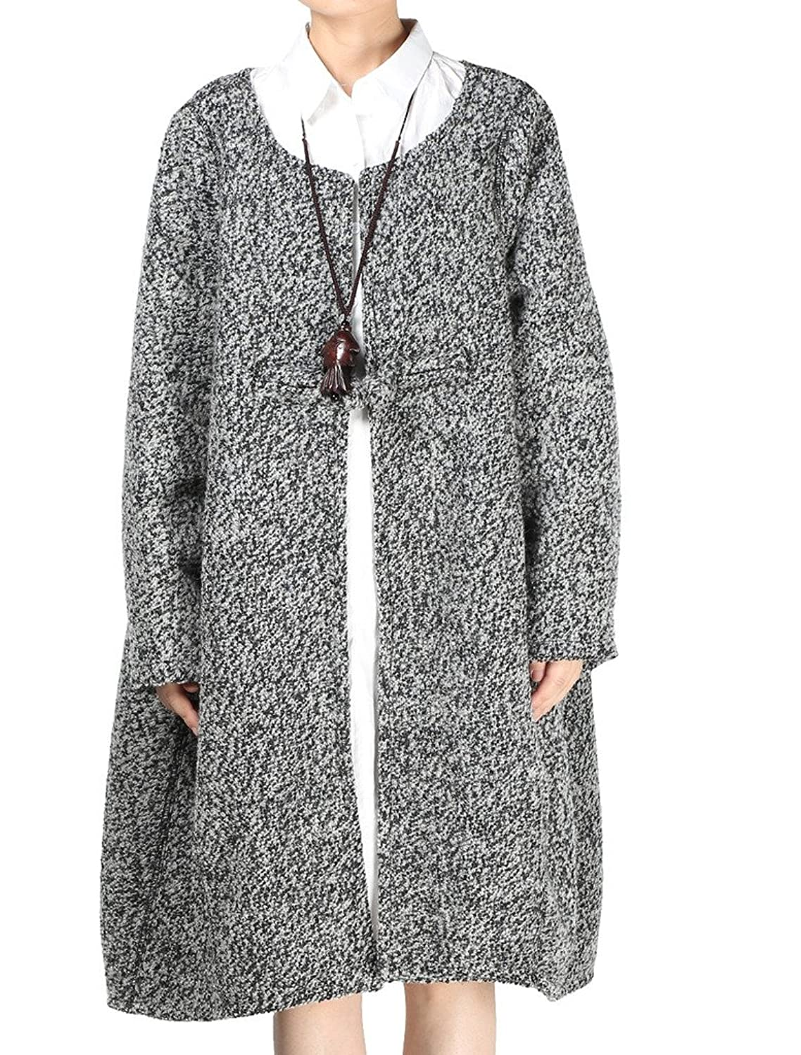 MatchLife Women's Winter Frog Button Coat