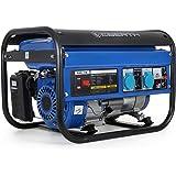 EBERTH 3000 watts groupe electrogene à essence Générateur électrique (démarrage par câble, refroidi par air, protection contre l'insuffisance d'huile) bleu
