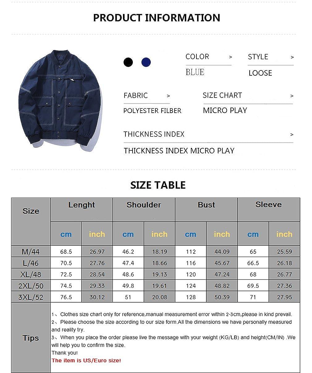 SDolphin Mens Casual Lightweight Long Sleeve Button Down Jacket Windbreaker