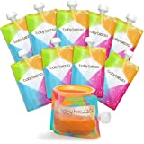 Baby Brezza Reusable Baby Food Storage Pouches, 10 Pack 7oz - Make Organic Food Puree for Kids or Toddlers and Store in…