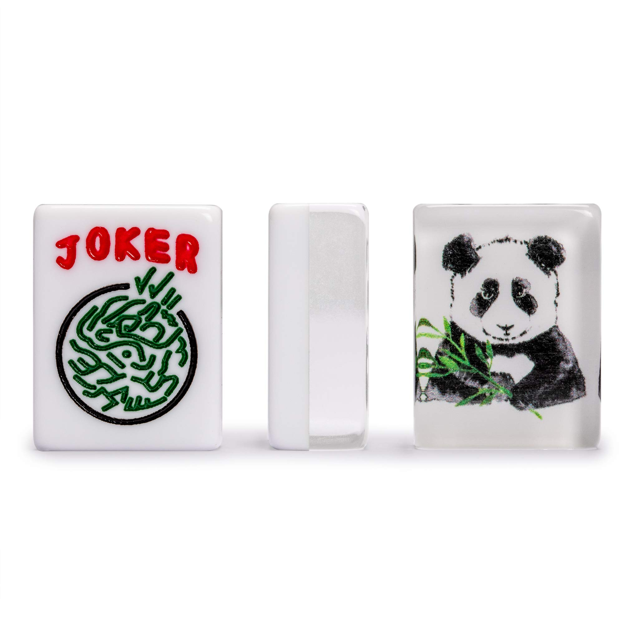 Yellow Mountain Imports American Mahjong Tiles, Panda - 1.2 x 0.9 x 0.5 inches (30 cm x 23 cm x 13 cm) - 166 Acrylic Standard Size Mahjong Tiles