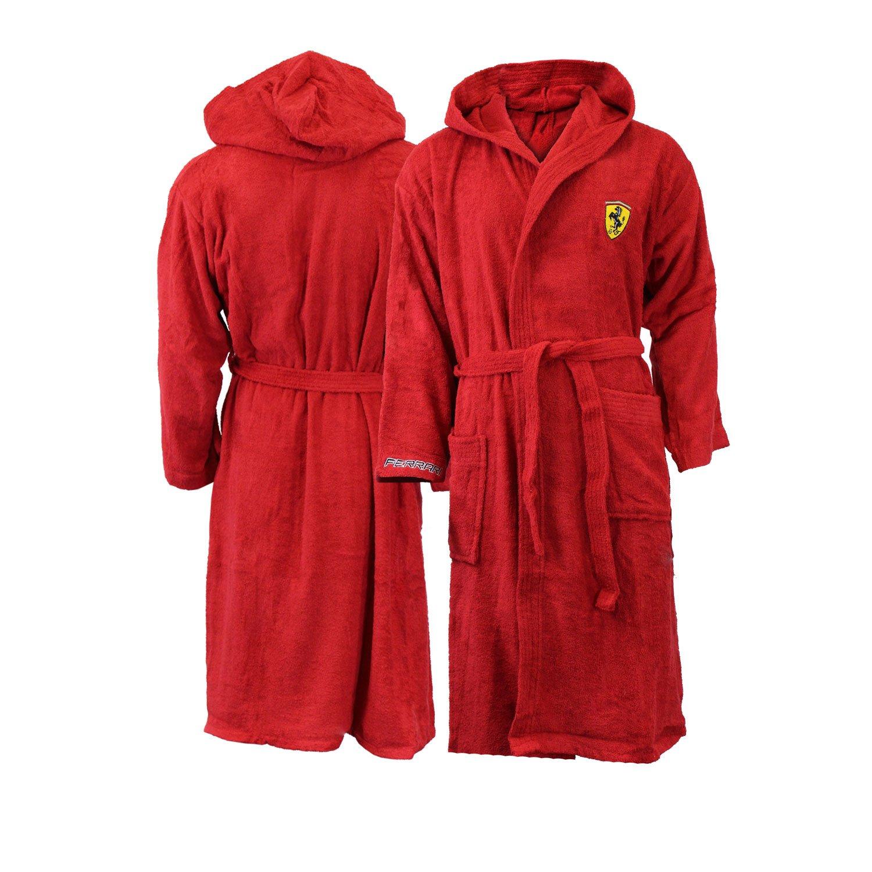 Ferrari adulte Peignoir de bain  capuche pour enfant Rouge Coton