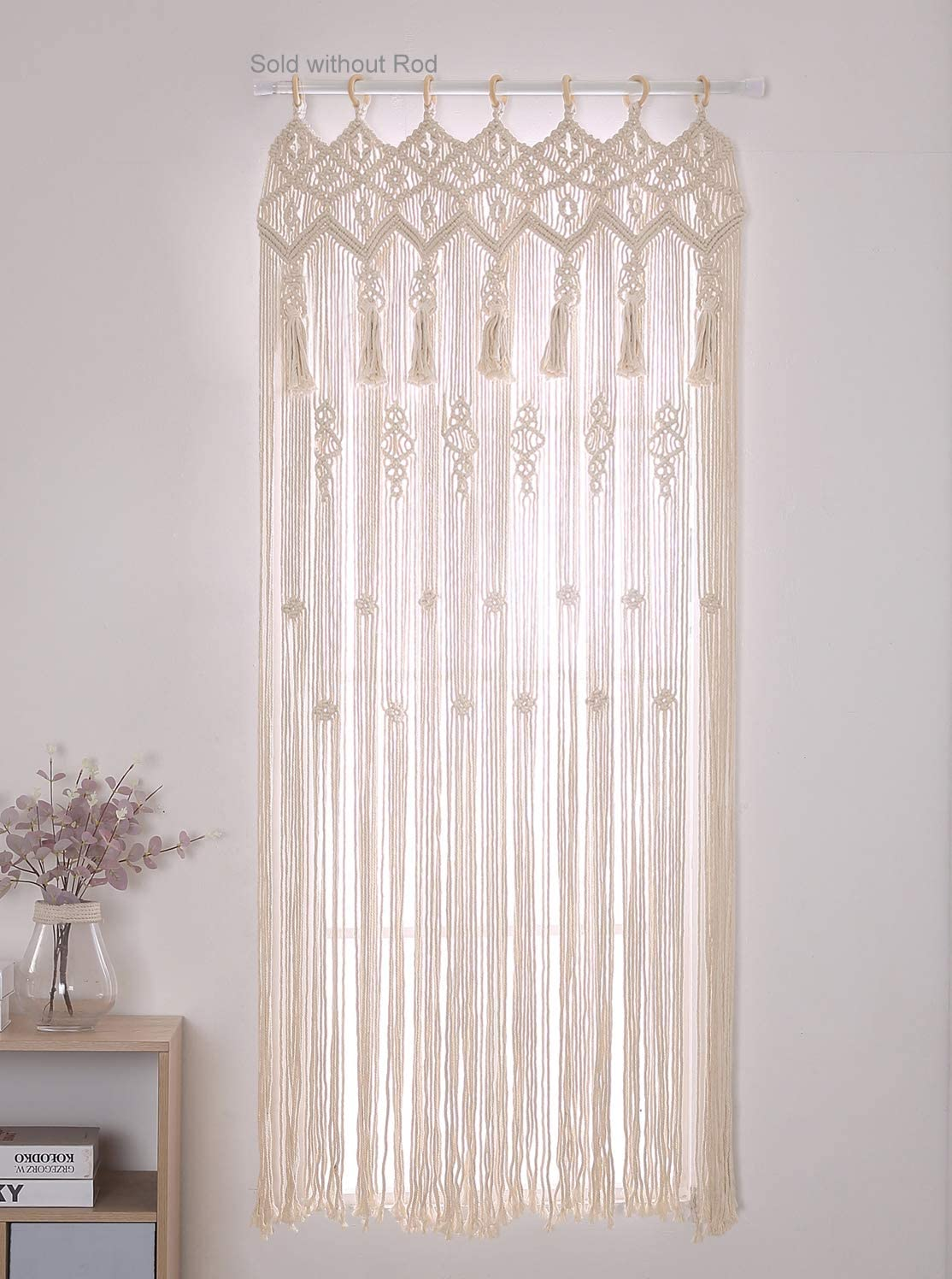 Deal of the week: Achart Macrame Curtain Wall Hanging Tapestry Doorway Window Curtains Window Curtain Panels Handwoven Boho Wedding Backdrop Arch Closet Room Divider Boho Wall Decor Without Rod Beige