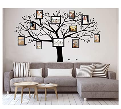 LUCKKYYRGiant Family Photo Tree Wall Decor Sticker Vinyl Art Home Decals Room