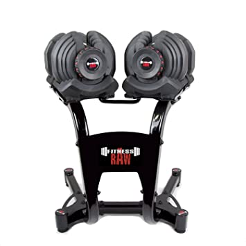 fitnessRAW Ajustable Pesas 40 kg/Adjustable Dumbbell 40 kg/haltère réglable 40 kg: Amazon.es: Deportes y aire libre