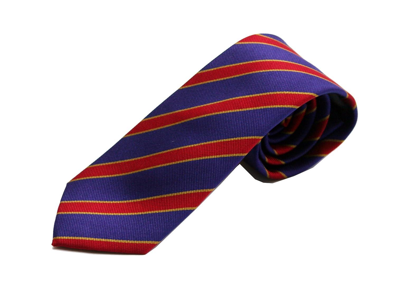 Corbata azul rayas rojas - Corbatas de hombre fabricada ...