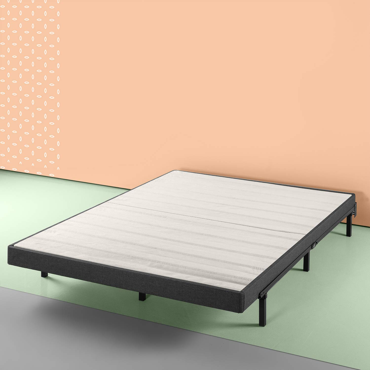 Zinus Daniel 4 Inch Essential Box Spring / Mattress Foundation / Easy Assembly Required, Queen by Zinus