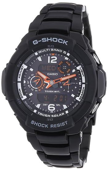 CASIO GW3500BD1AER - Reloj de caballero de cuarzo, correa de acero inoxidable color negro: Amazon.es: Relojes