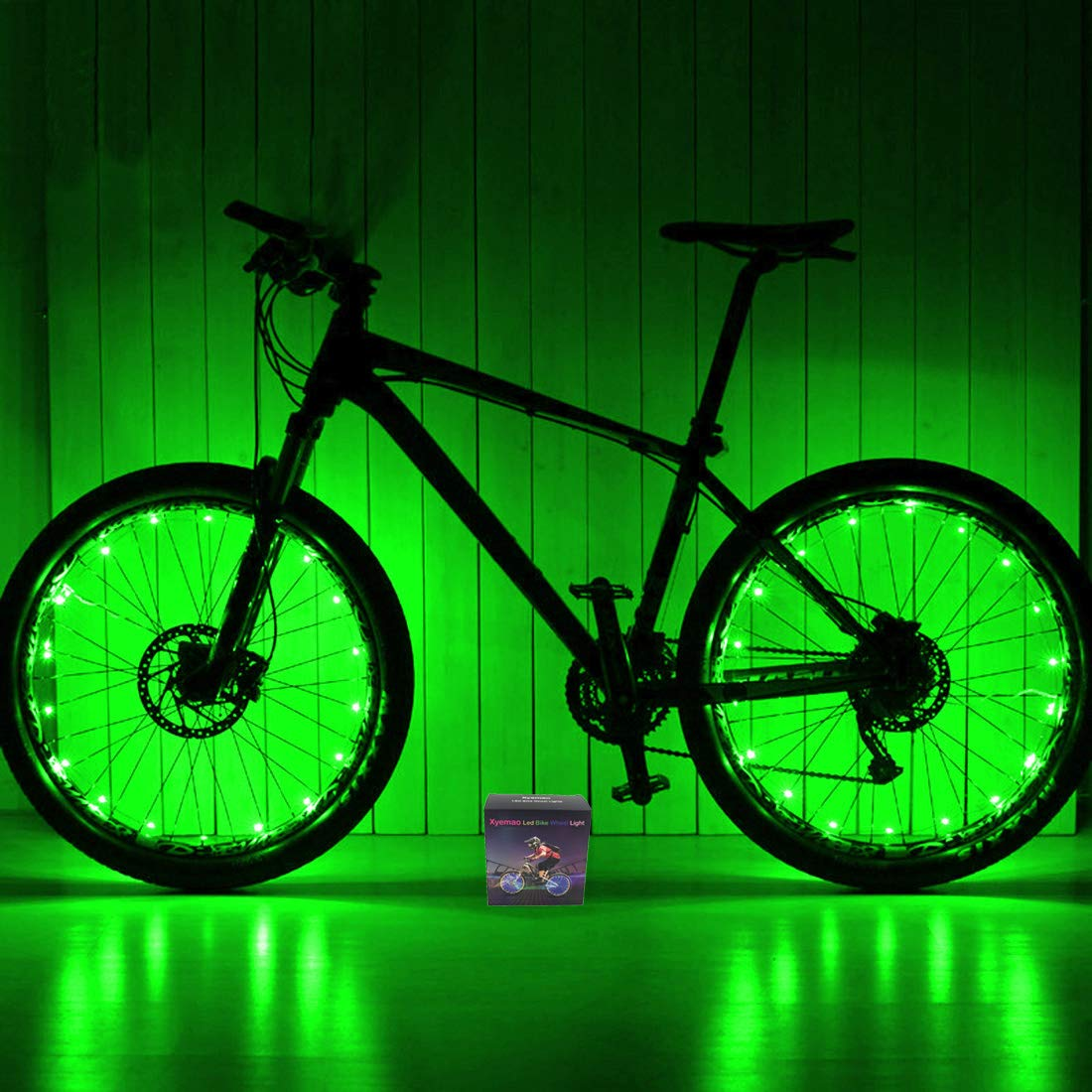 Xyemao Led Bike Wheel Lights, 2 Tire Pack Waterproof Bright Bicycle Light Strip, Ultimate Safety Style Lights, Cool Kids Bike Accessories, 3 AA Battery Include