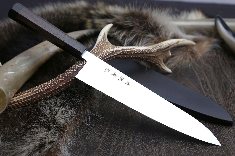 YOSHIHIRO Ice Hardened High Carbon Stainless Steel Wa Gyuto Japanese Chef Knife 8.25'' (210mm)