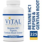 Vital Nutrients Betaine HCL Pepsin & Gentian Root Extract - Powerful Digestive Support f