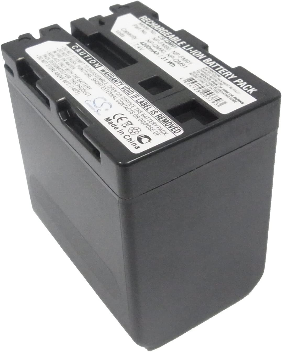 CCD-TRV128 CCD-TRV108 CCD-TRV318 7.4v 4200mAh Rechargeable Battery NP-FM91 Replacement for Sony CCD-TRV118