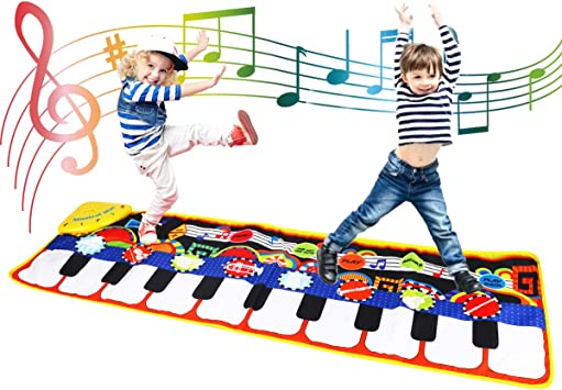 Coolplay Tapete para Piano tamaño Grande (39 * 14 Pulgadas) Juguete para niños con Teclado y Teclado para Piano, Divertido tapete de Baile para bebés ...