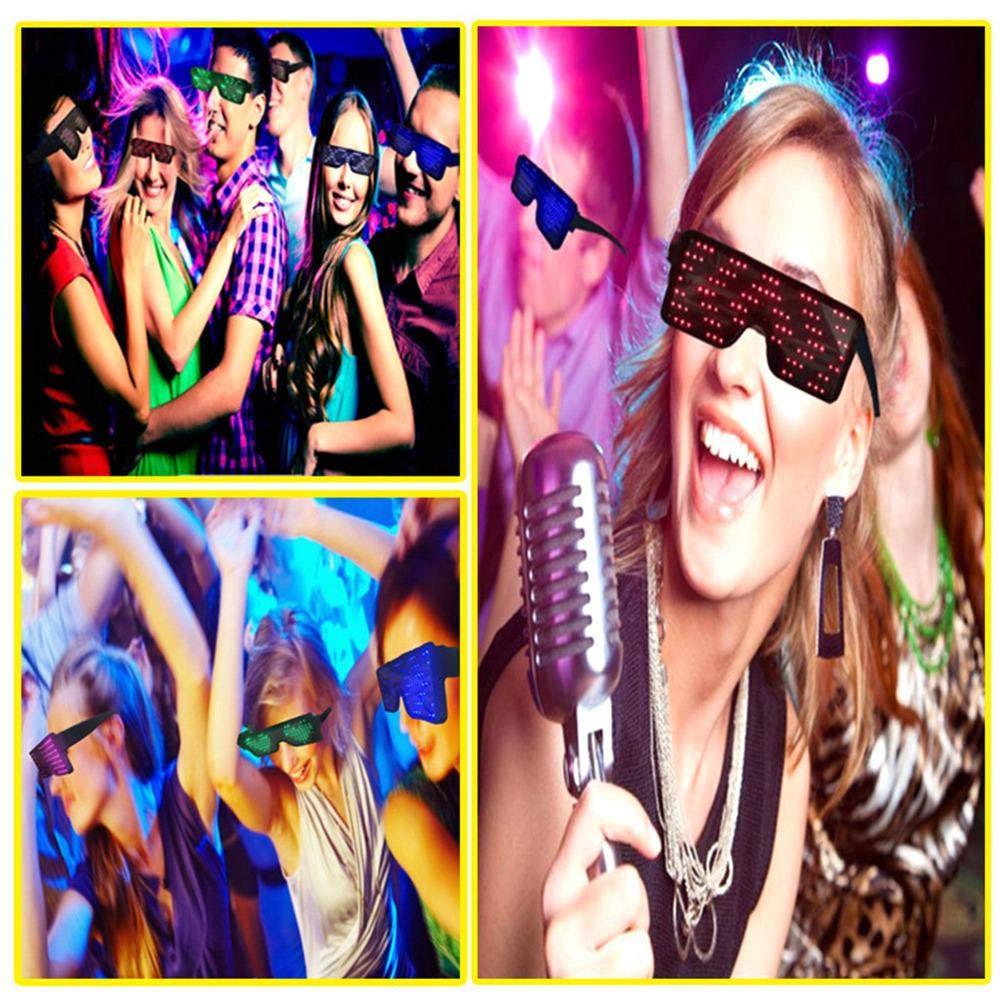 Verde Aolvo Party Festival Colorful Glowing Occhiali Illuminazione Occhiali Leggeri Occhiali novit/à Maschera Occhi mascherati Party Nightclub Show