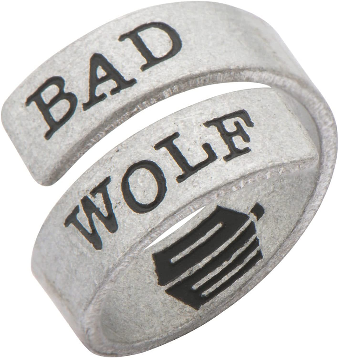 Doctor Who Adjustable Bad Wolf Ring Officially Licensed