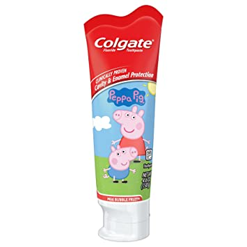 Amazon.com: Colgate Kids Fluoride Toothpaste, Peppa Pig, 4.6 Ounce: Beauty