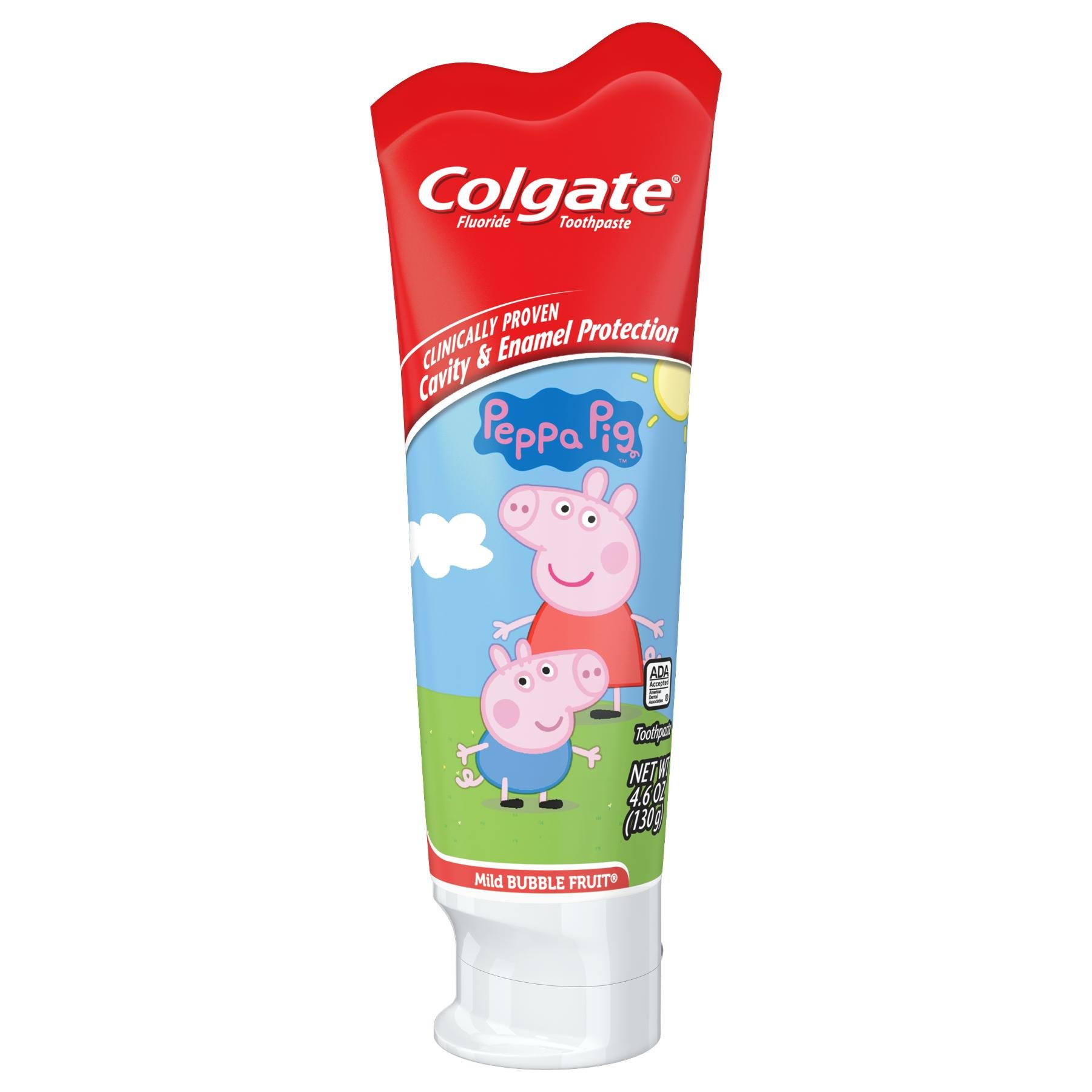 Colgate Kids Fluoride Toothpaste, Peppa Pig, 4.6 Ounce