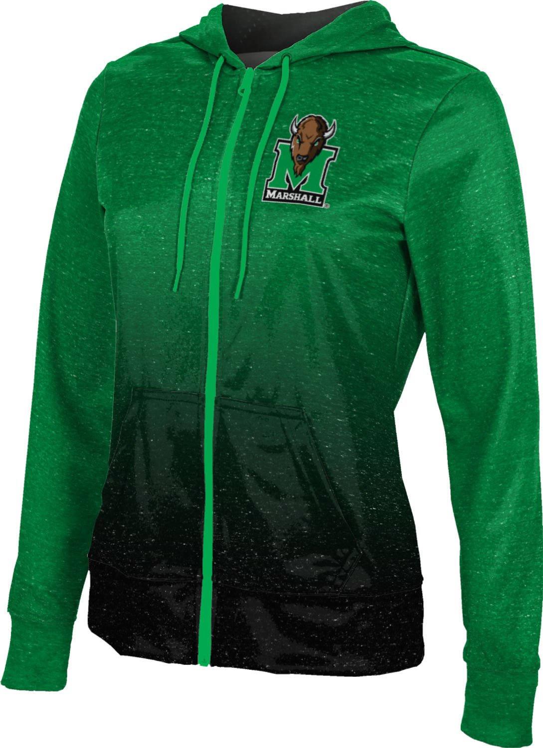 ProSphere Marshall University Women's Fullzip Hoodie - Ombre FCFD1 (XX-Large)