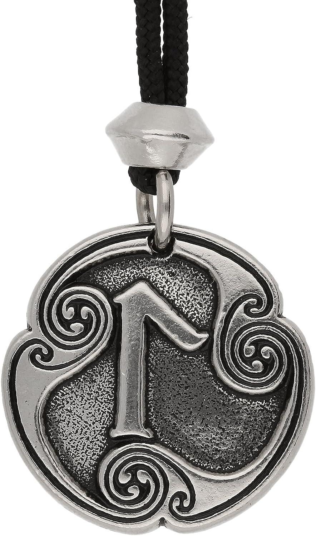 Viking nordique Laguz Rune de lintuition runique Pendentif en /étain 21/ème Lettre