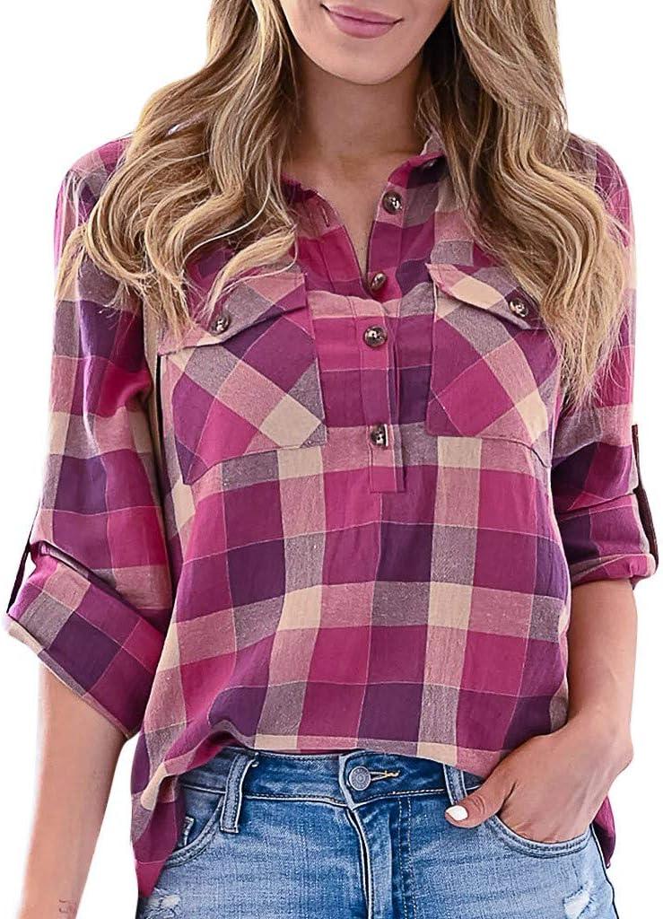 Deman outfit-Artistic9 - Camisa para Mujer con Cuello en V y ...