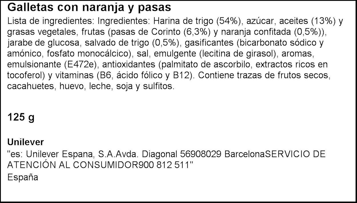 Flora - Galletas Fruta-Fibra Naranja, 125 g: Amazon.es: Alimentación y bebidas