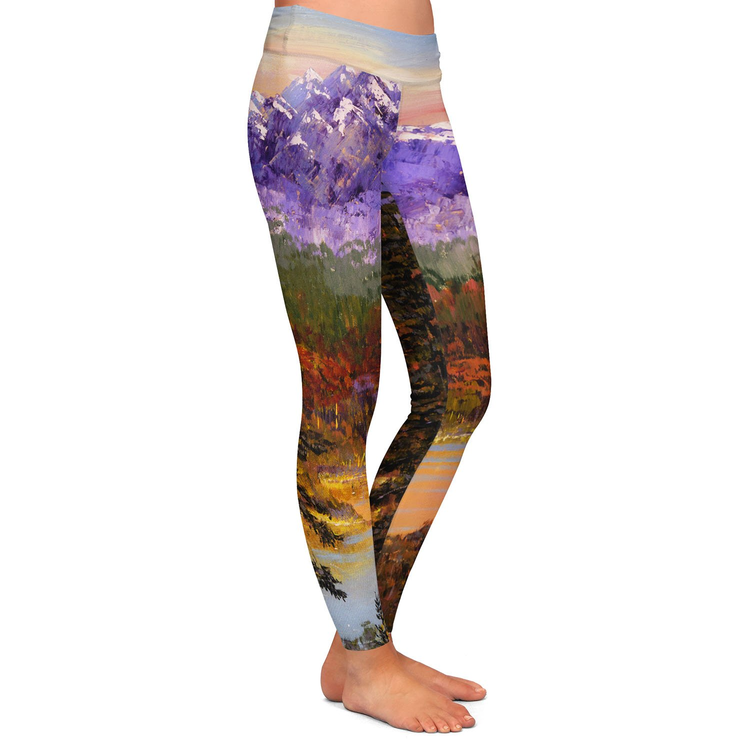 Silent Vision Athletic Yoga Leggings from DiaNoche Designs by David Lloyd Glover