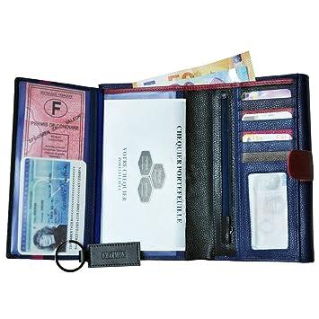 CHARMONI - Compagnon de voyage tout en un porte chéquier Portefeuille 3  volets 13 cartes, db1b4759002