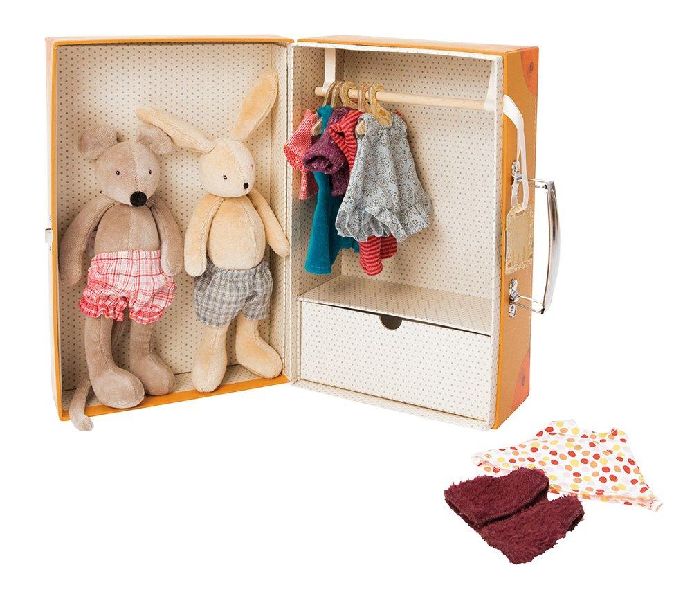 Moulin Roty La petit Armoire Geschenkbox mit mit Geschenkbox 2 Plüschtieren d97020