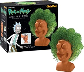 Chia Pet Rick & Morty - Rick Decorative Pottery Planter, Easy to Do and Fun