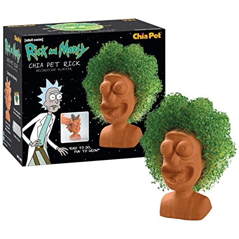 Amazoncom Chia Pet Rick Morty Rick Decorative Pottery Planter