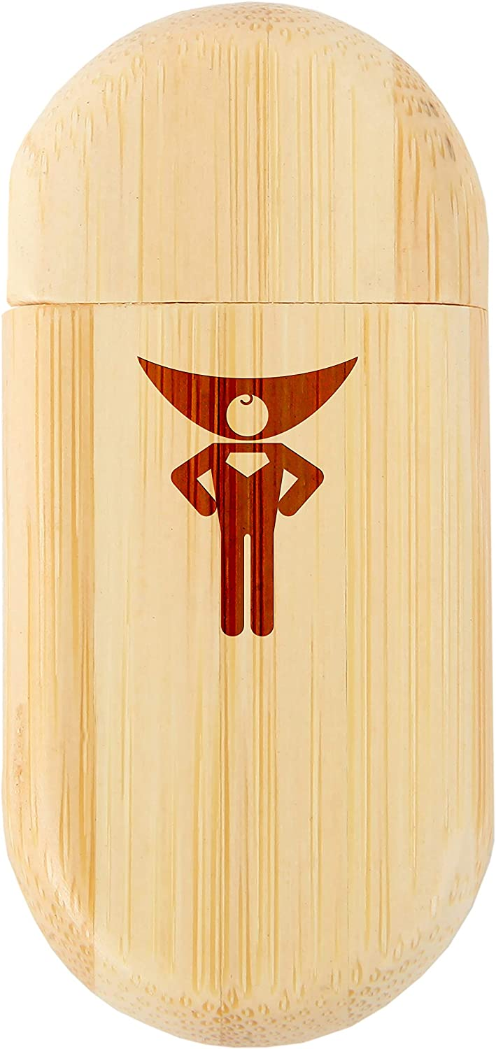 Superhero 8Gb Bamboo USB Flash Drive with Rounded Corners 8Gb USB Gift for All Occasions Wood Flash Drive with Laser Engraving