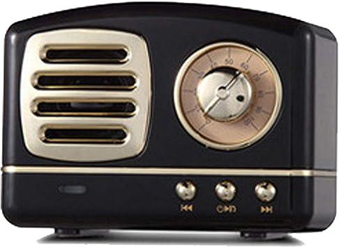 DXIA Radio Portátil Altavoces Bluetooth, Altavoz Bluetooth Retro, Radio Mini de Estilo clásico, Bluetooth 4.1, Tarjeta AUX TF y Reproductor de MP3 (Negro): Amazon.es: Electrónica