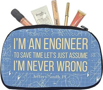 Amazoncom Engineer Quotes Makeupcosmetic Bag Medium