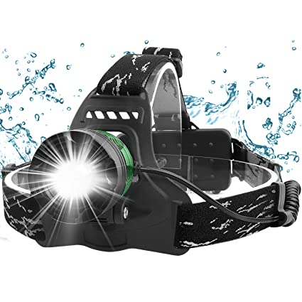 L00 PROJECTOR T6 LED HEADLIGHT HEAD LIGHT ZOOMABLE 2000 LUMEN BATTERY CHARGER
