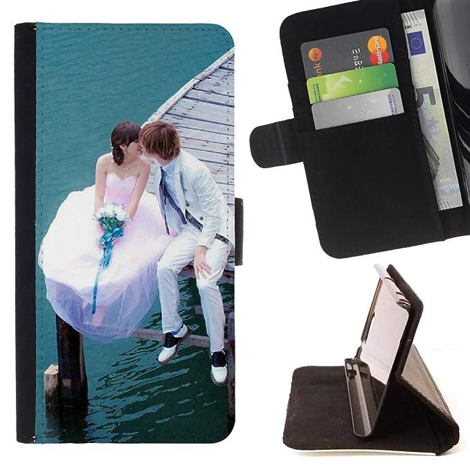 For Samsung Galaxy E5 E500 Case , Amor pareja casada- la tarjeta ...