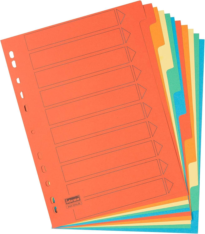 Idena 302004/ 10/pezzi in cartone /Divisori in formato DIN A4
